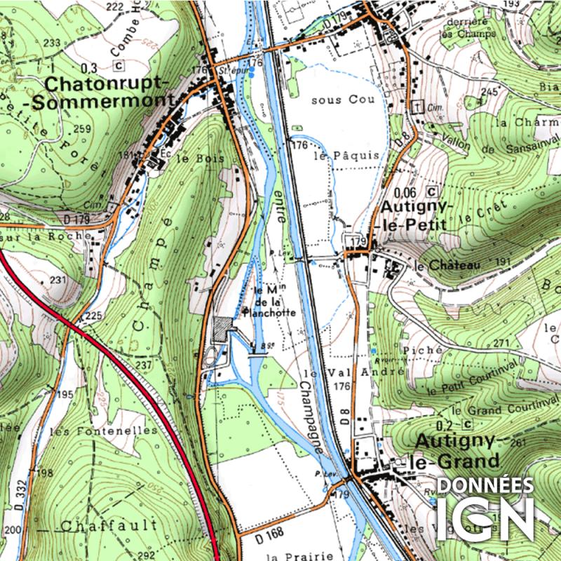 Quart de France Nord-Est - 1 : 25 000