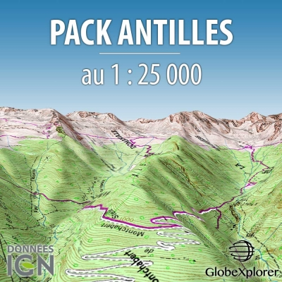 Pack Antilles - Martinique / Guadeloupe - 1 : 25 000 - GlobeXplorer