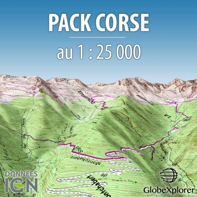 Pack Corse - 1 : 25 000 - GlobeXplorer