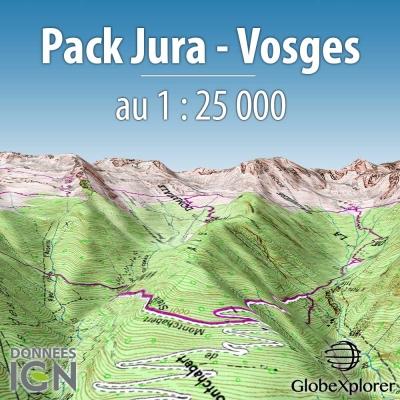 Pack Jura-Vosges - 1 : 25 000 - GlobeXplorer