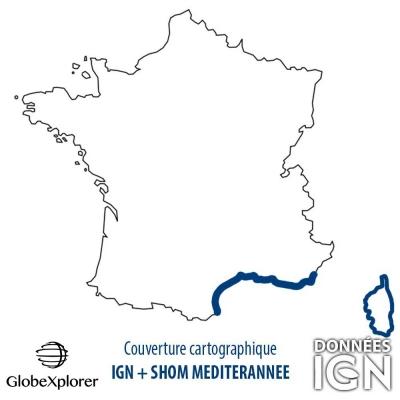 GlobeXplorer - Carte marine IGN/SHOM Méditerrannées - 1 : 25 000
