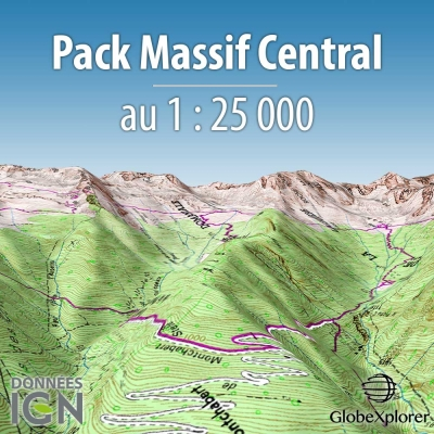 Pack Massif Central - 1 : 25 000 - GlobeXplorer
