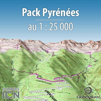 Pack Pyrénées - 1 : 25 000 - GlobeXplorer