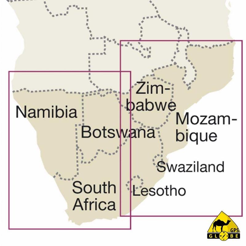 Afrique Australe - Carte touristique - 1 : 2 500 000