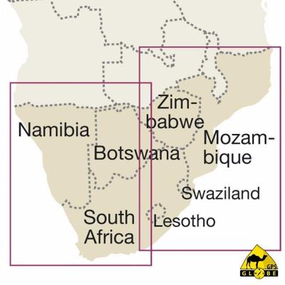 Afrique Australe - Carte voyage - 1 : 2 500 000
