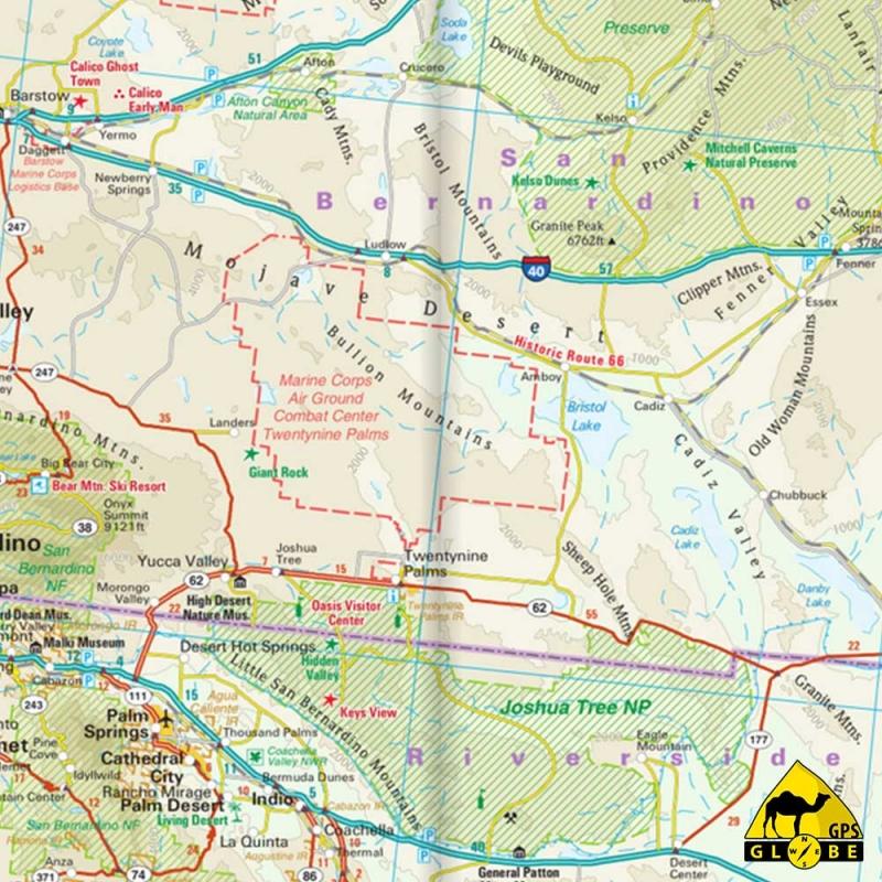 Gps Globe Carte Touristique Du Sud Ouest Des Etats Unis