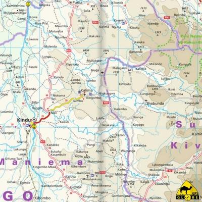 Congo - Carte voyage - 1 : 2 000 000
