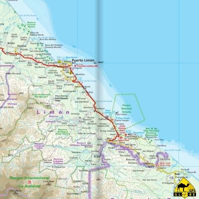 Costa Rica / Panama - Carte voyage - 1 : 550 000