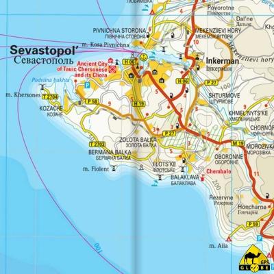 Crimée - Carte voyage - 1 : 340 000