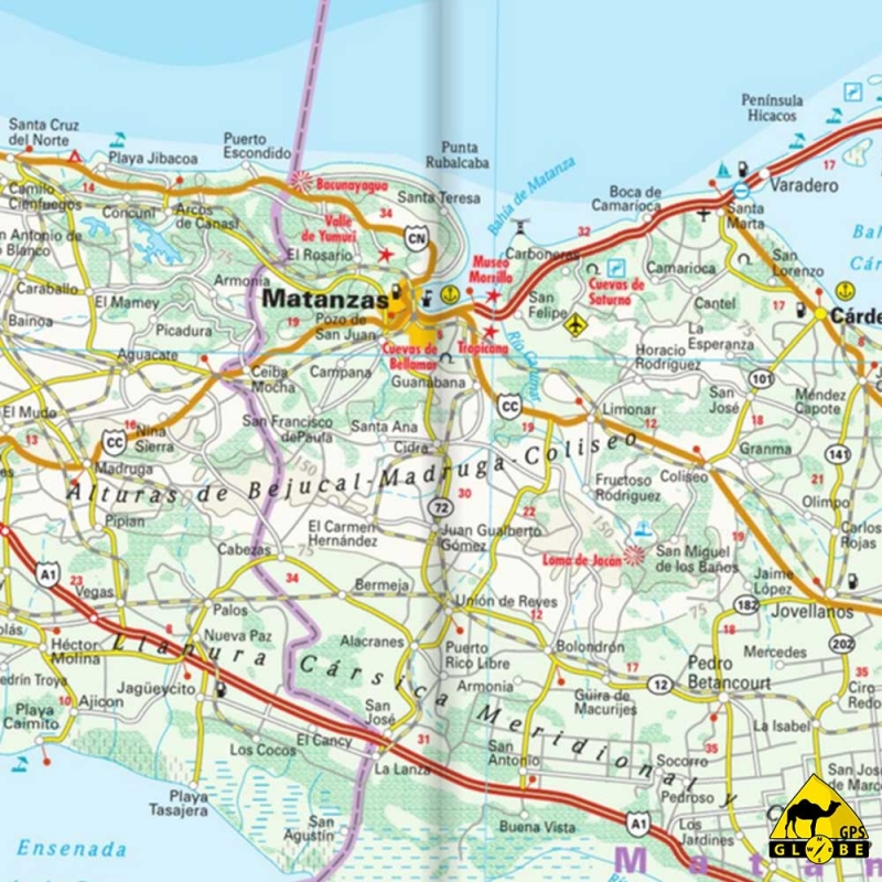 GPS Globe   Carte touristique de Cuba au 1 : 650 000