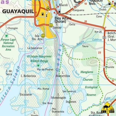 Equateur - Carte voyage - 1 : 650 000