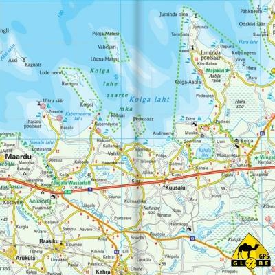 Estonie - Carte touristique - 1 : 275 000