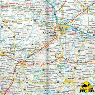 Etats Baltes - Carte touristique - 1 : 600 000