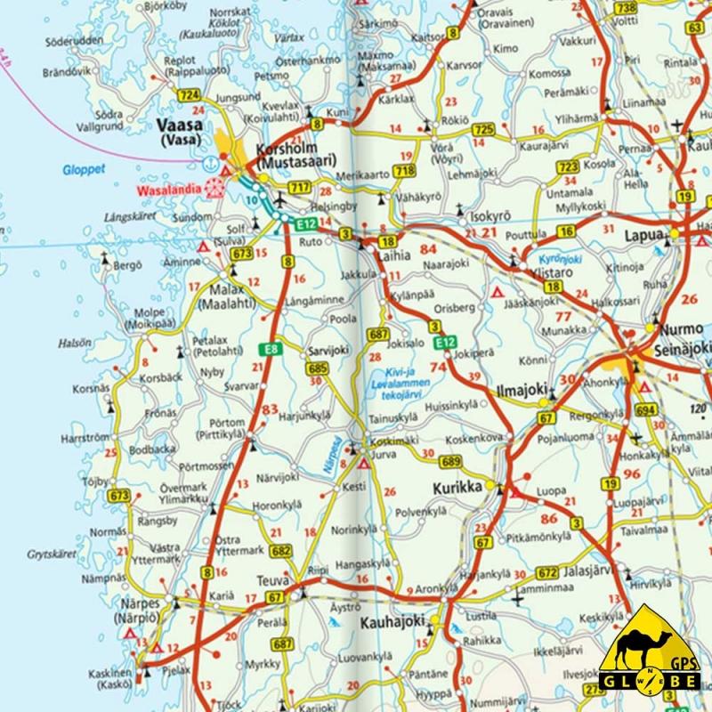 Gps Globe Carte Touristique De La Finlande Et Nord De La