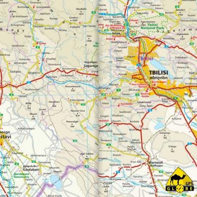 Géorgie - Carte voyage - 1 : 350 000