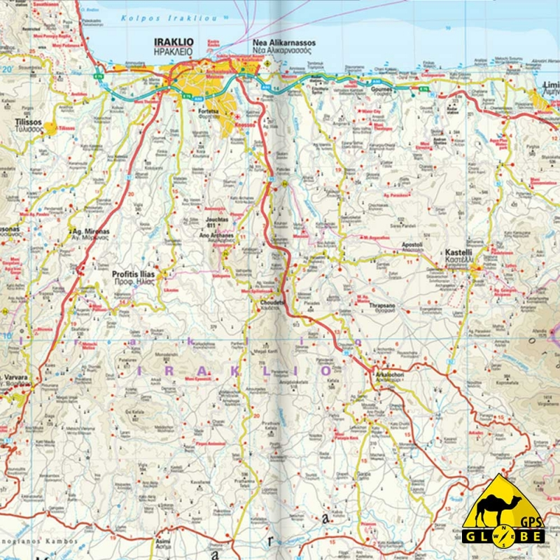 Carte Topographique Crete.Gps Globe Carte Touristique De L Ile Crete Au 1 140 000