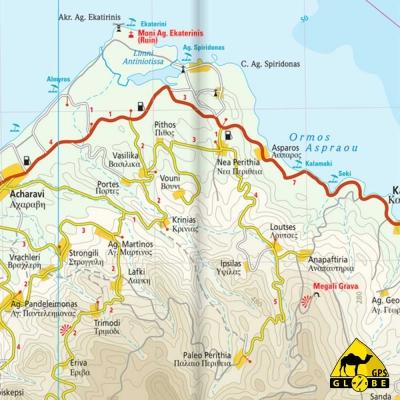 Corfou - Carte touristique - 1 : 65 000