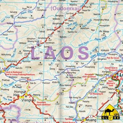 Indochine (Viet Nam / Laos / Cambodge) - Carte touristique - 1 : 1 200 000