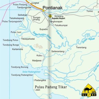 Borneo (Indonésie / Malaisie) - Carte touristique - 1 : 1 200 000