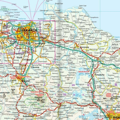 Java (Indonésie) - Carte touristique - 1 : 650 000