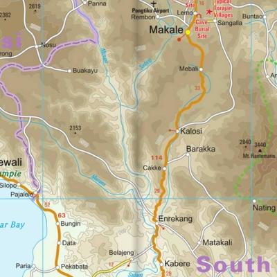 Sulawesi (Indonésie) - Carte touristique - 1 : 800 000