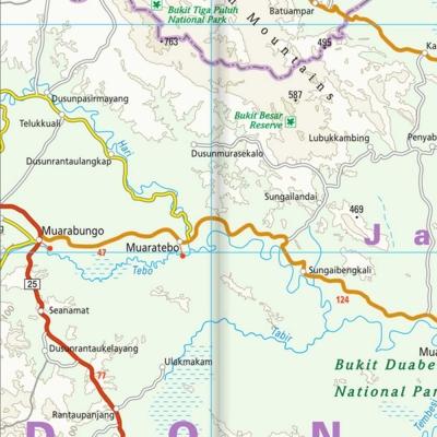 Sumatra (Indonésie) - Carte touristique - 1 : 1 100 000