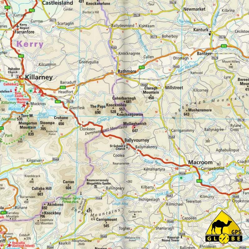 Irlande - Carte touristique - 1 : 350 000