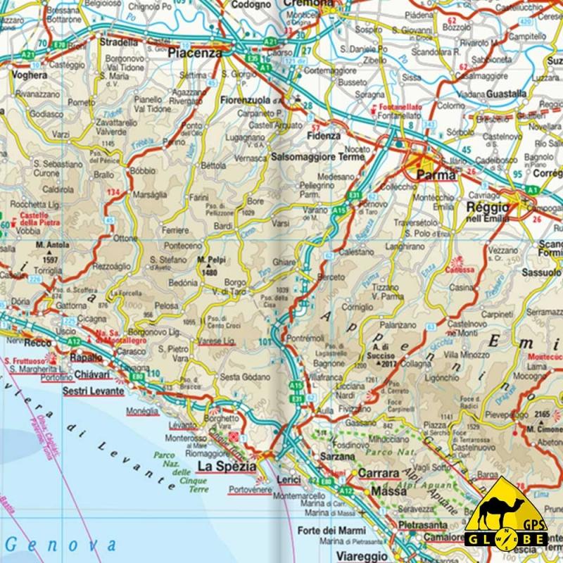 Carte Italie Tourisme.Gps Globe Carte Touristique De L Italie