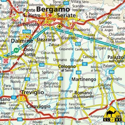 Italie NORD - Carte voyage - 1 : 400 000
