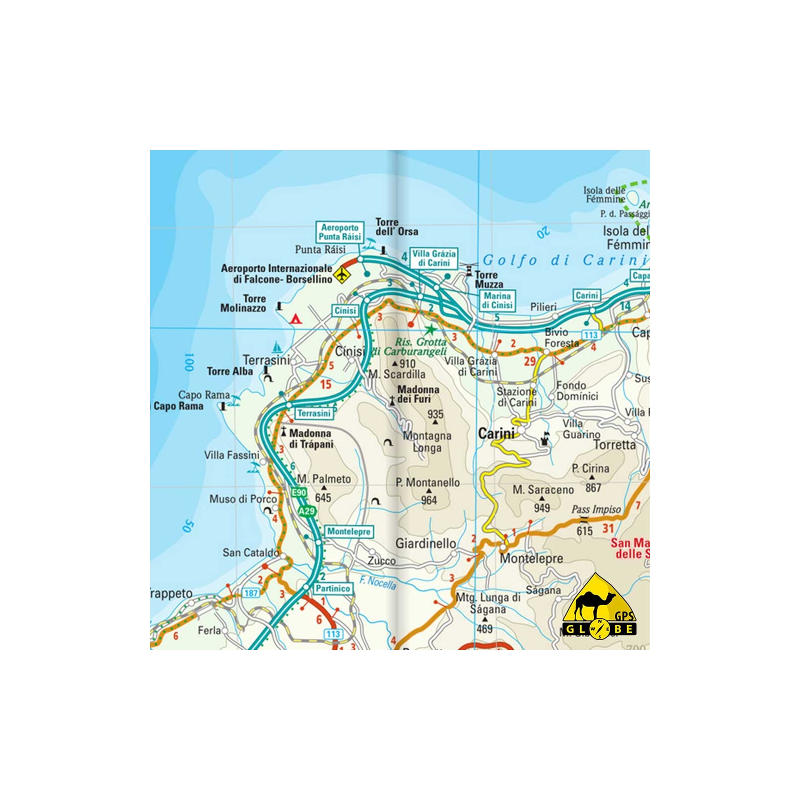 Carte Sicile Italie.Sicile Italie Carte Voyage 1 200 000