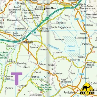 Toscane (Italie) - Carte touristique - 1 : 200 000