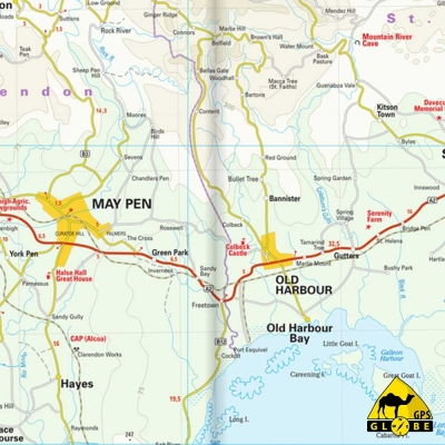 Jamaïque - Carte touristique - 1 : 150 000
