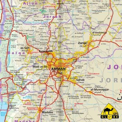 Jordanie - Carte touristique - 1 : 400 000