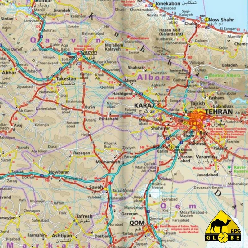 GPS Globe - Carte touristique de l'Iran
