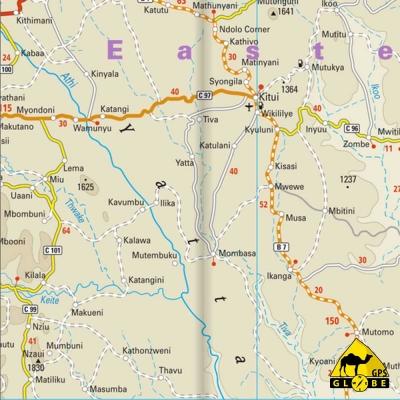 Kenya - Carte touristique - 1 : 950 000