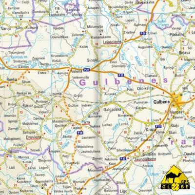 Lettonie - Carte touristique - 1 : 325 000