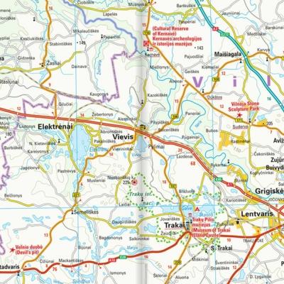 Lituanie - Carte touristique - 1 : 325 000