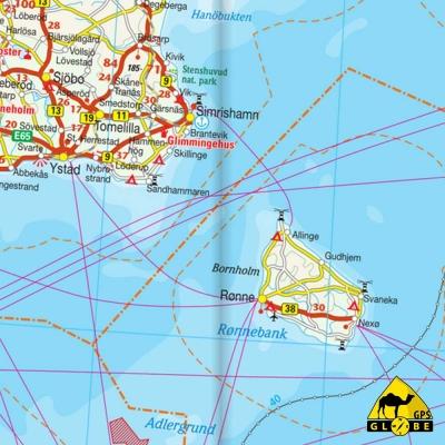 Mer Baltique - Carte touristique - 1 : 1 300 000