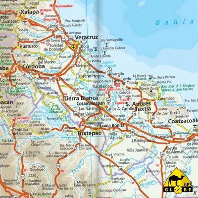 Mexique - Carte voyage - 1 : 2 250 000