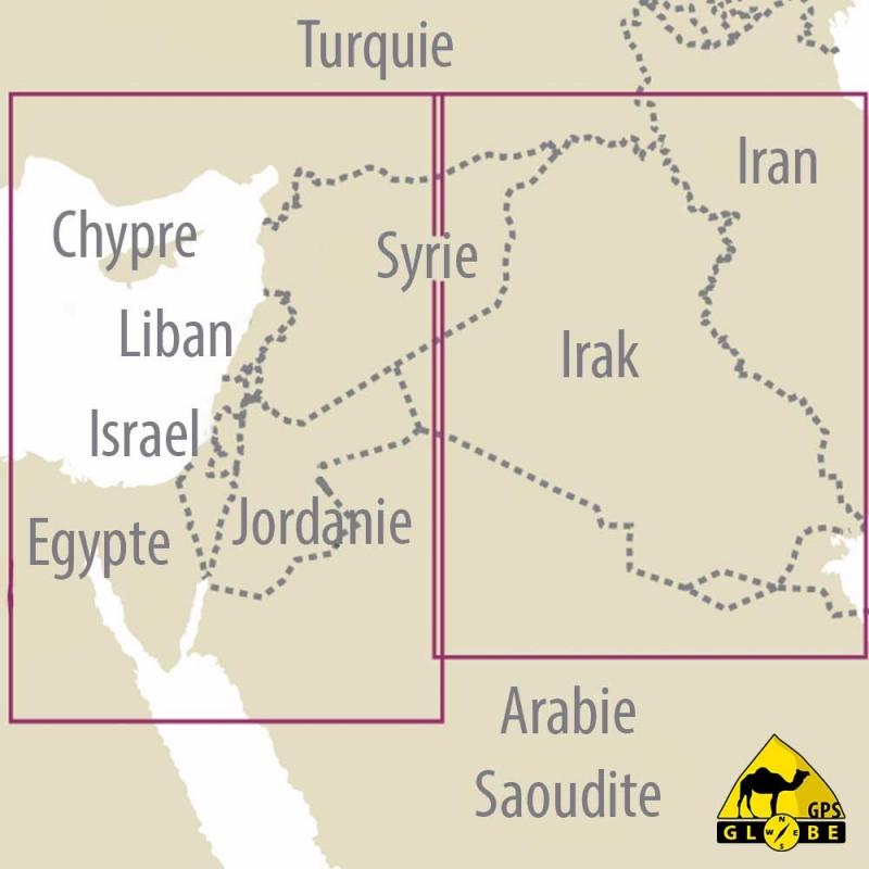 carte gps jordanie