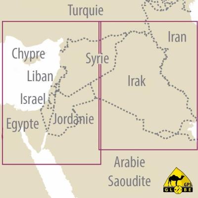 Moyen Orient - Carte voyage - 1 : 1 200 000