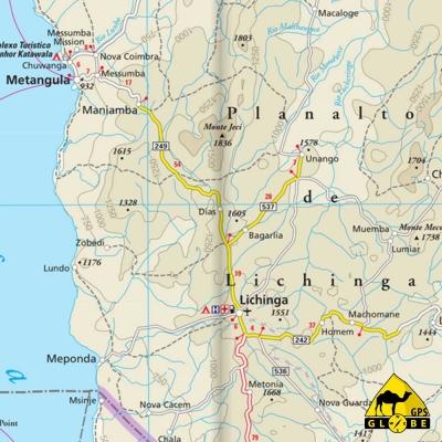 Mozambique / Malawi - Carte voyage - 1 : 1 200 000