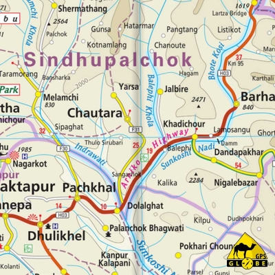 Népal - Carte touristique - 1 : 500 000