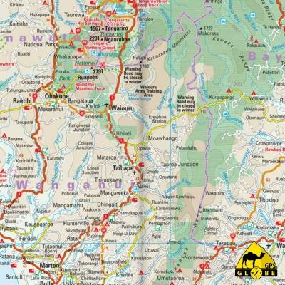 Nouvelle-Zélande - Carte touristique - 1 : 1 000 000