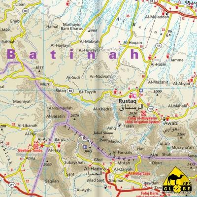 Oman - Carte touristique - 1 : 850 000
