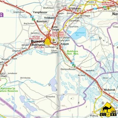Ouzbékistan - Carte voyage - 1 : 1 000 000