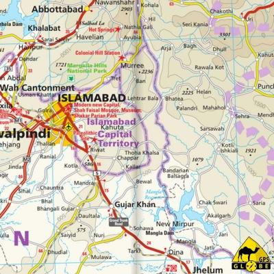 Pakistan - Carte touristique - 1 : 1 300 000