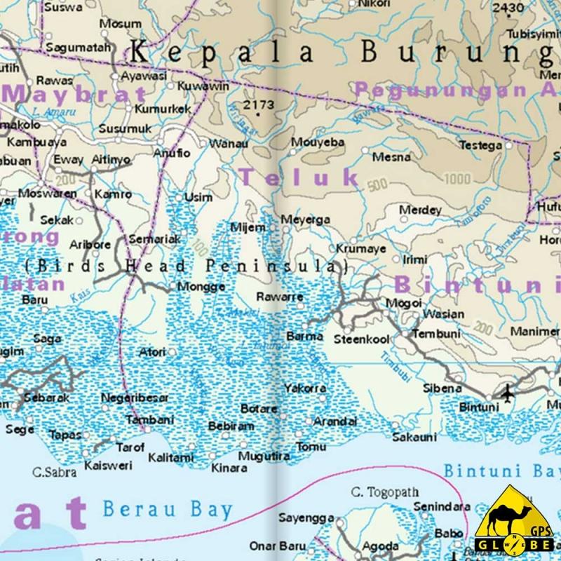 Gps Globe Carte Touristique De La Papouasie Et De La Nouvelle Guinee