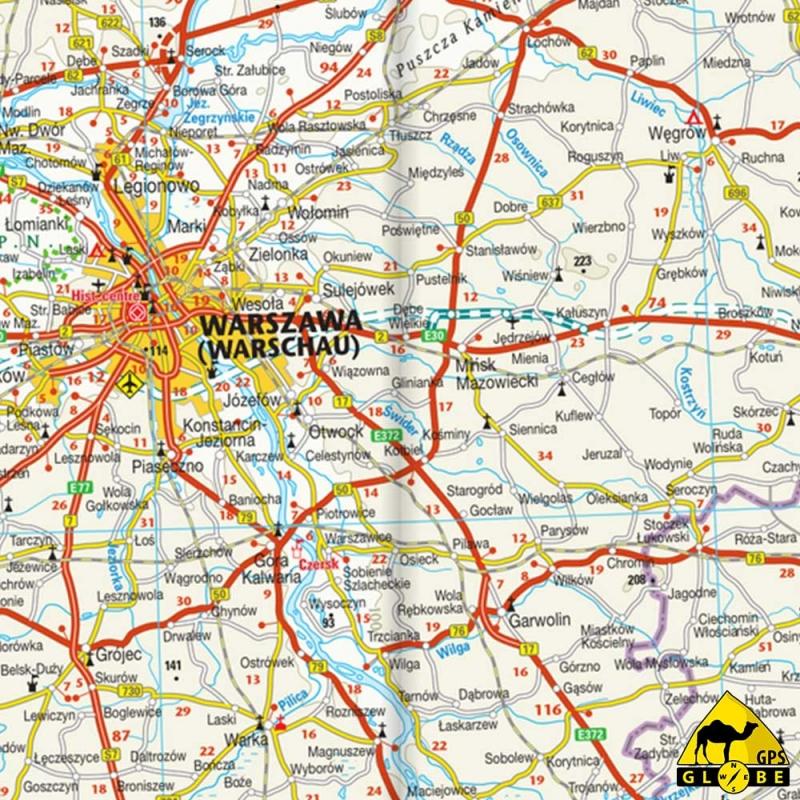 carte touristique de la pologne