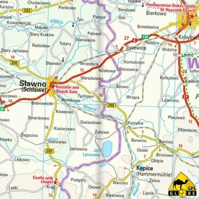 Pologne (Nord) - Carte touristique - 1 : 350 000